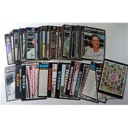 100 - 1971 Topps Baseball Cards.  Mostly EX or Better.