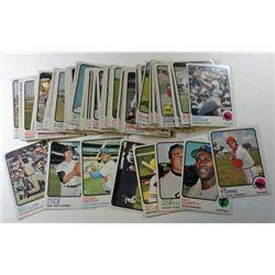 100 - different 1973 Topps Baseball Cards.