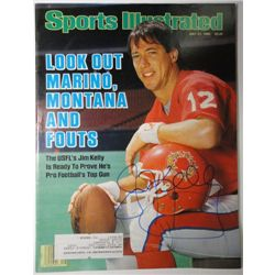 Jim Kelly Autographed Sports Illustrated.  July 21, 1986.