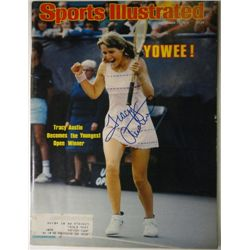 Tracy Austin Autographed Sports Illustrated.  September 17, 1979.