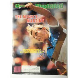 Martina Navratilova Autographed Sports Illustrated.  September 19. 1983.