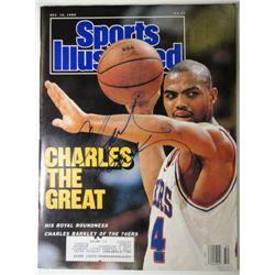 Charles Barkley Autographed Sports Illustrated.  Dec. 12, 1988.