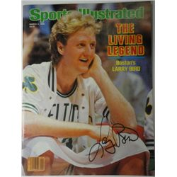 Larry Bird Autographed Sports Illustrated.  March 3, 1986.