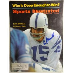 Earl Morrall Autographed Sports Illustrated.  November 25, 1968.
