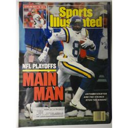 Anthony Carter Autographed Sports Illustrated.  January 18, 1988.