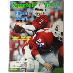 John Elway Autographed Sports Illustrated.  November 8, 1982.