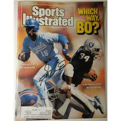 Bo Jackson Autographed Sports Illustrated.  December 14, 1987.