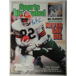 Ozzie Newsome Autographed Sports Illustrated.  January 12, 1987.