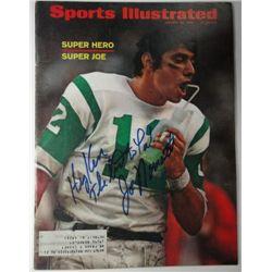 Joe Namath Autographed Sports Illustrated.  January 20, 1969.