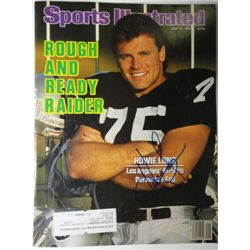 Howie Long Autographed Sports Illustrated.  July 22, 1985.
