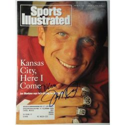 Joe Montana Autographed Sports Illustrated.  April 26, 1993.