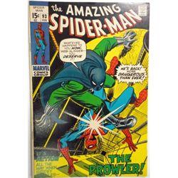 the AMAZING SPIDER-MAN MARVEL Comics Group #93  FEB 1971   VF