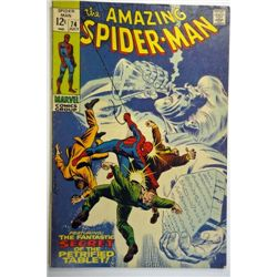the AMAZING SPIDER-MAN MARVEL Comics Group #74  JULY 1969   F