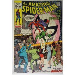 the AMAZING SPIDER-MAN MARVEL Comics Group #91  DEC 1970   F