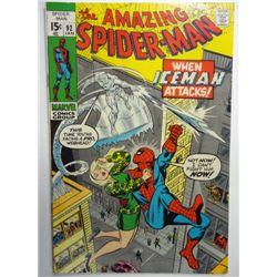 the AMAZING SPIDER-MAN MARVEL Comics Group #92  JAN 1970  VF