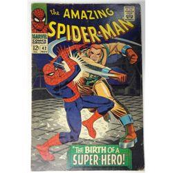 the AMAZING SPIDER-MAN MARVEL Comics Group #42  NOV 1966  G/VG