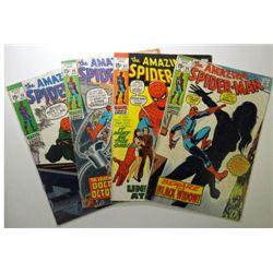 4 - 1970 The Amazing Spider-Man Comic Books.