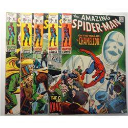 5 - 1970 The Amazing Spider-Man Comic Lot.