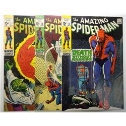 3 - 1969 The Amazing Spider-Man Comic Books.