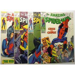 4 - 1969 The Amazing Spider-Man Comic Books.