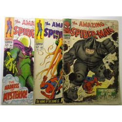 3 - Spider-Man Comic Books from the 60's.