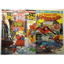 4 - 1975 The Amazing Spider-Man Comic Lot.