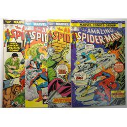 4 - 1975 The Amazing Spider-Man Comic Books.
