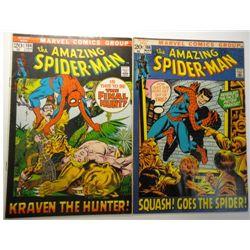 2 - 1972 The Amazing Spider-Man Comics.
