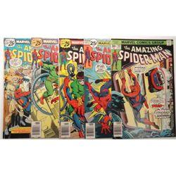 5 - 1976 The Amazing Spider-Man Comic Books.