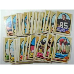 100 - 1970 Topps Football Cards.  Mostly EX, few lesser.