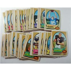 100 - 1970 Topps Football Cards.  Mostly EX or Better.