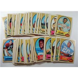 100 - 1970 Topps Football Cards.  Mostly EX-VGEX.