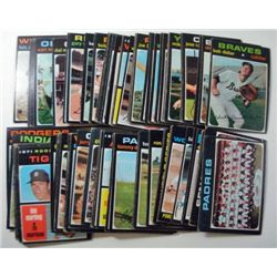 100 - 1971 Topps Baseball Cards.  Nice EX or Better.  Mostly Runs from #304-409