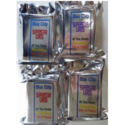 "4 - SUPERSTAR CARD PACKS  ""Blue Chip"" -  50 in a pack."