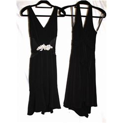Lot [1] DRESSES:  [1] Yolanda Arce black dress, size 4 and [1] Yolanda Arce halter black dress, size