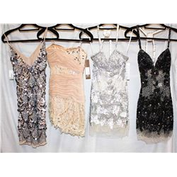 Description Change:Lot [4] DRESSES:  [1]  Jovani nude dress, size 2 [1] Jovani nude dress Mandalay
