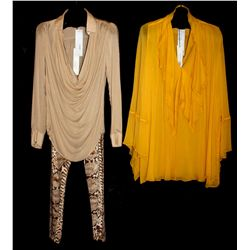 Description Change:Lot [2] PIECES:  [1] Plein Sud Jeanius yellow double sash dress, size 8 and [1] P