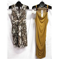 Lot [2] DRESSES:  [1] Moschino snake print dress, size 42 ?? And [1] Plein Sud Jeanius halter dress,