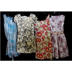 Lot [4] DRESSES:  [1] Plein Sud Jeanius aqua dress, size 8, [1] Plein Sud Jeanius flowers on ribbon
