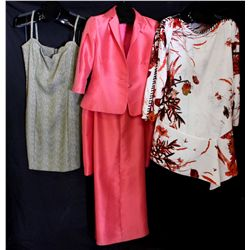 Lot [3] PIECES:  [1] Louise green scallop, size Large, [1] JustCavalli print tunic, size 10 and [1]