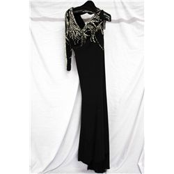 MacDuggal black gown, size 12