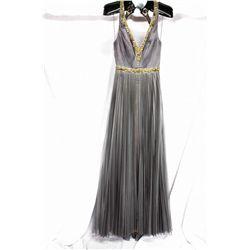 YSA Hakino charcoal gown, size 4