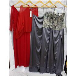 Description Change:Lot [7] PIECES:  [1] Red silk dress, size 10, [1] Yolanda Arce red shawl, one siz