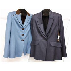 Lot [2] PIECES:  [1] Algo 100% cashmere coat, size 10 and [1] Algo 100% wool coat, size 10