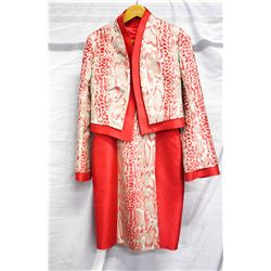 Louise snake print jacket dress