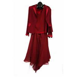 Louise dark red dress, size 14