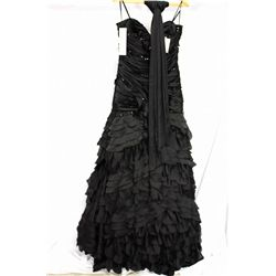 YSA Makino rhinestone black dress, size 14