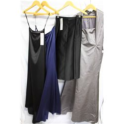 Lot [4] PIECES ASSORTED CLOTHING: [1] Pewter Kevin Hall, size 12, [1] Black short pencil, size XL, [