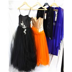 Lot [4] PIECES ASSORTED CLOTHING: [1] Jewel banded chiffon dress, size 8, [1] Black sweater long sle
