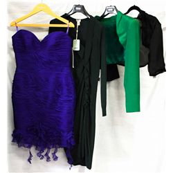 Lot [4] PIECES ASSORTED CLOTHING: [1] Long sleeve bolero, size 10, [1] Long sleeve satin, size 10, [